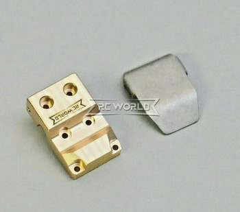 For Axial SCX24 1/24 Metal BRASS DIFF COVER + Plate Weighted V2 (1pcs)