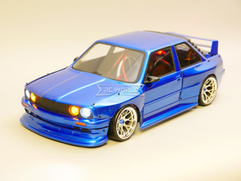 RC 1/10 BMW E30 Wide Body Brushless RTR W/ LED -BLUE-