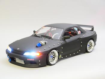RC 1/10 Nissan Skyline R32 GTR DRIFT Brushless RTR -BLACK- W/ LED /Sound
