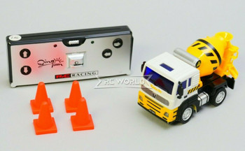 RC Micro 1/64 CEMENT TRUCK Micro RC Construction Truck 2.4GHZ W/ LED