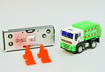 RC Micro 1/64 RECYCLE TRUCK Micro RC Garbage Truck 2.4GHZ W/ LED