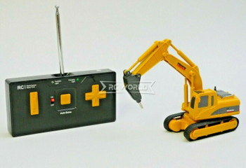 RC Micro 1/64 EXCAVATOR D90 Micro RC Construction Truck W/ HAMMER 40MHZ