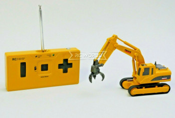 RC Micro 1/64 EXCAVATOR D90 Micro RC Construction Truck W/ GRAPPLER 27MHZ