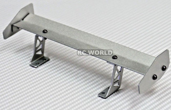 1/10 RC Car METAL WING SPOILER For Touring Cars SILVER 185mm