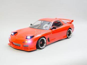 RC 1/10 Drift MAZDA RX7 FD W/ Pop Up Lights RTR W/ LED -RED-