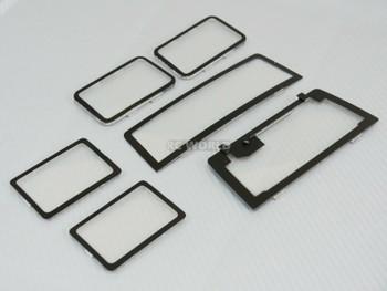RC Scale 1/10 JEEP WRANGLER RUBICON Hard Body - GLASS SET - 6PCS