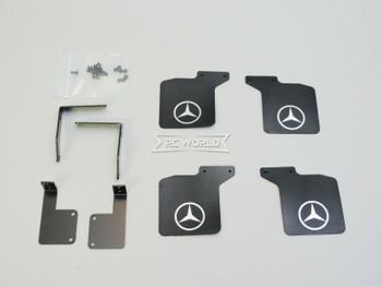 Traxxas TRX-4 Mercedes G500 MUD FLAPS Front + Rear w/ Bracket (4)pcs