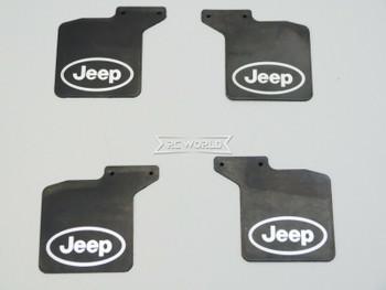 Axial SCX-10-3 JEEP Wrangler MUD FLAPS Front + Rear w/ Bracket (4)pcs