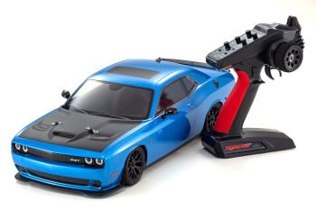 Kyosho Fazer RC Car Dodge Challenger SRT Hellcat 4wd BLUE -RTR-