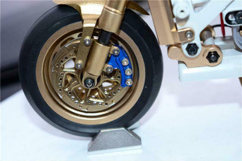 GPM Front + Rear BRAKE CALIPERS For Kyosho HOR Bike #KM007-SILVER-