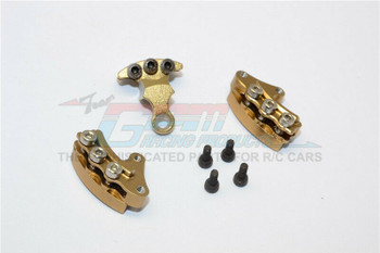 GPM Front + Rear BRAKE CALIPERS For Kyosho HOR Bike #KM007-GOLD-