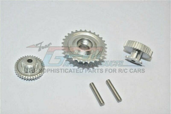GPM Aluminum Gears For HOR RC Bike 52T 53T 55T (3PCS) -SILVER-