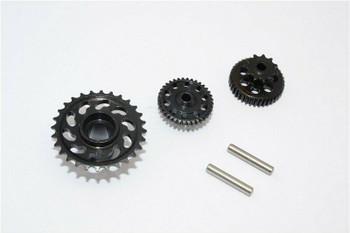 GPM Aluminum Gears For HOR RC Bike 52T 53T 55T (3PCS) -BLACK-