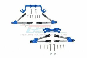 GPM Traxxas Hoss Tie Rod Stablizer Front + Rear #HS049FR -BLUE-