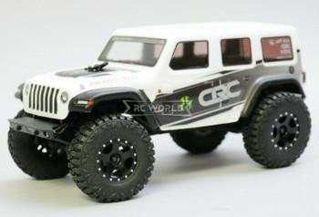 For Axial SCX24 WHEELS TIRES Set 52mm Aluminum Rims + Tires (4pcs) BLACK
