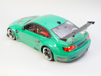 Custom RC 1/10 Drift BMW M3 e92 GT3 Drift AWD Belt CAR RTR W/ LED Green