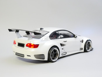 Custom RC 1/10 Drift BMW M3 e92 GT3 Drift AWD Belt CAR RTR W/ LED White