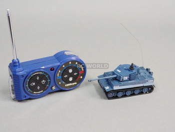 RC Micro TANK Mini RC KING TIGER TANK  W/ Engine Sounds GRAY