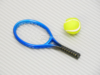 RC 1/8 Scale Accessories TENNIS Racket + Ball -BLUE-