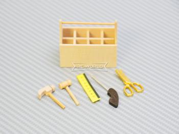 RC 1/10 Scale Accessories TOOL BOX Carpenter Tools -Wood-