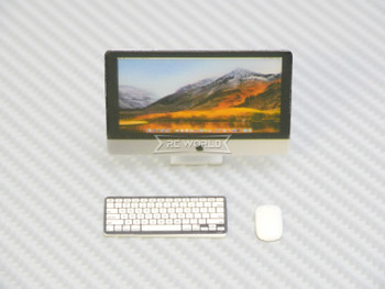 RC 1/12 Scale Accessories COMPUTER Screen, Keyboard, Mouse