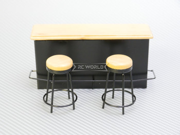 RC 1/12 Scale Accessories BAR Island W/ 2 Chairs