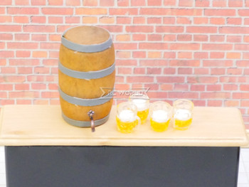 RC 1/10 Scale Accessories BEER KEG W/ (4) GLASS