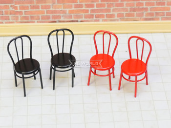 RC 1/12 Scale Accessories CHAIRS Metal (2) Black