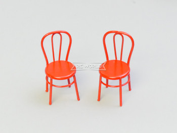 RC 1/12 Scale Accessories CHAIRS Metal (2) Red