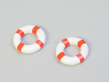RC 1/12 Scale Accessories LIFEBUOYS Lifeguard Pool (2)