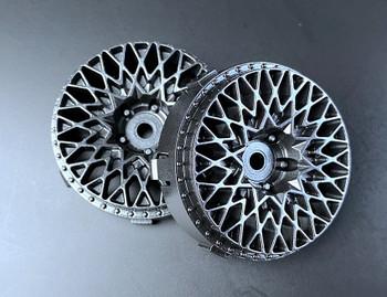 Tetsujin GRANSEEKER Car Wheels INSERTS Disk Adjustable Offset - Gloss BLACK - (4 pcs ) TT-7149