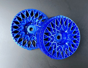 Tetsujin GRANSEEKER Car Wheels INSERTS Disk Adjustable Offset - Metallic BLUE - (4 pcs ) TT-7122