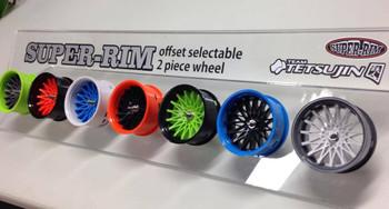 Tetsujin SUNFLOWER Car Wheels INSERTS Disk Adjustable Offset - CHROME BLACK - (4 pcs ) TT-8016