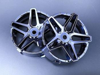 Tetsujin SOUTHERN CROSS RC Car Wheels INSERTS Disk  Adjustable Offset  - CHROME BLACK - (4 pcs ) TT-8017