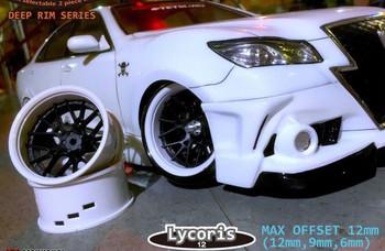 Tetsujin LYCORIS Car Wheels INSERTS Disk  Adjustable Offset  - CHROME BLACK - (4 pcs ) TT-8018