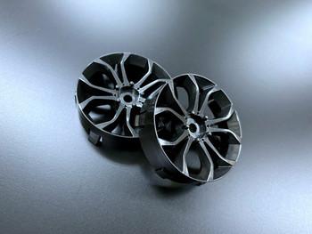 Tetsujin DEEP SPIDER Car Wheels INSERTS Disk Adjustable Offset - CHROME BLACK - (4 pcs ) TT-8020