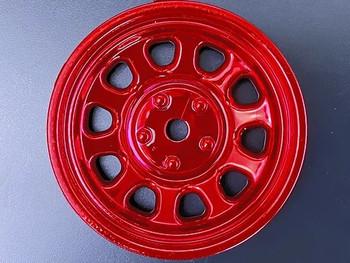 Tetsujin SUNFLOWER Car Wheels INSERTS Disk Adjustable Offset - CHROME RED - (4 pcs ) TT-8021