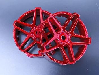 Tetsujin SOUTHERN CROSS RC Car Wheels INSERTS Disk  Adjustable Offset  - CHROME RED- (4 pcs ) TT-8022
