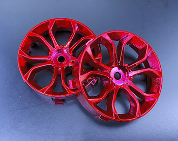Tetsujin DEEP SPIDER Car Wheels INSERTS Disk Adjustable Offset - CHROME RED - (4 pcs ) TT-8025