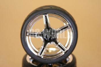 1/10 RC Car Wheels Package  Star Black Chrome (4pcs)