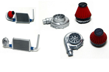 RC Scale QUICK FIT TURBO V2 W/ Filter RC Body Accessories RED (1)