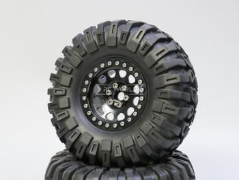1/10 Truck Wheels 2.2  Aluminum RIMS V2 Beadlock  W/ 130mm TIRES Black/Black