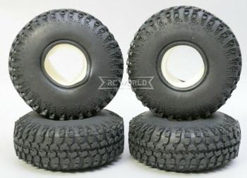 RC 1/10 Rubber TRUCK Tires 1.9 Grabber Wheels 115mm X 37MM W/ Foam-4PC