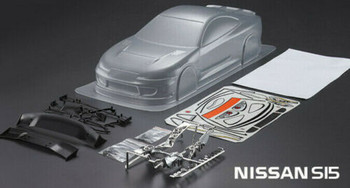1/10 RC Body Shell Nissan Skyline S15 Dove Tail 200mm - CLEAR -
