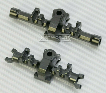 GPM 1/24 Axial SCX24 Upgrade Metal AXLE HOUSING Front + Rear BLACK