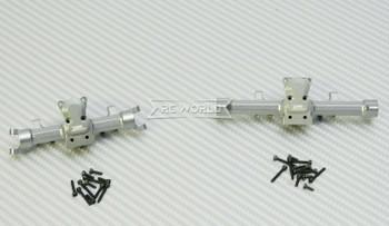 GPM 1/24 Axial SCX24  Metal AXLE HOUSING Front + Rear GUN METAL