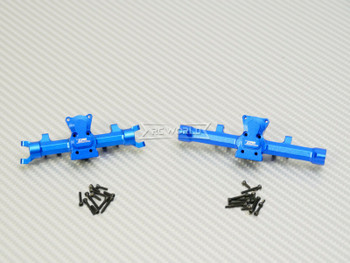 GPM 1/24 Axial SCX24  Metal AXLE HOUSING Front + Rear BLUE