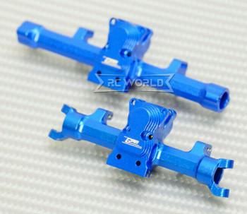 GPM Axial SCX24 METAL AXLES Front + Rear Upgrade Aluminum (2pcs) BLUE