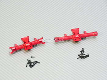 GPM 1/24 Axial SCX24 Metal AXLE HOUSING Front + Rear RED