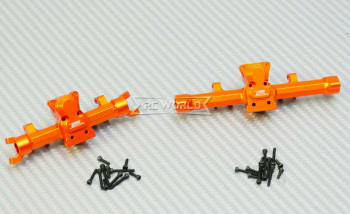 GPM 1/24 Axial SCX24 Metal AXLE HOUSING Front + Rear ORANGE
